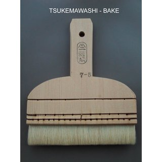 198 027 Tsukemawashibake, white, mountain sheep hair, 17 cm-wide