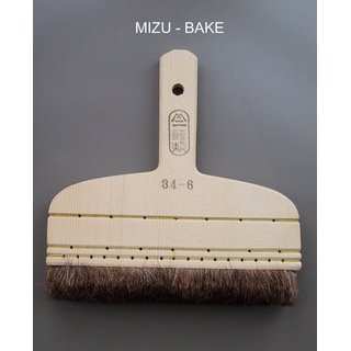 198 047 Mitsubake - brush to moisten, brown, deer hair, brown, 17 cm-wide